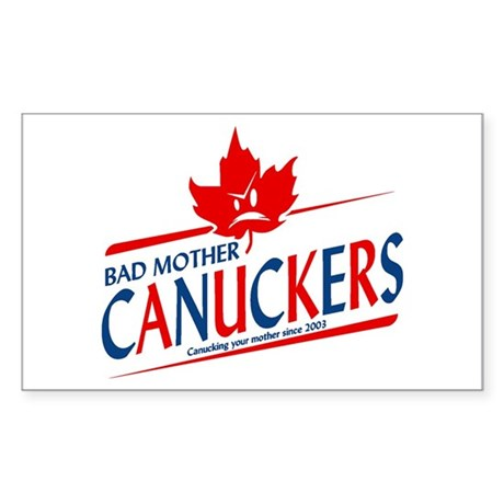 Canadian with Attitude Rectangle Sticker