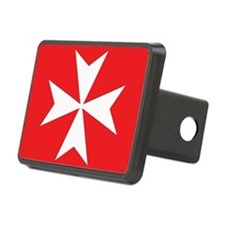 White Maltese Cross Hitch Cover