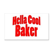 Hella Cool Baker Rectangle Car Magnet