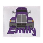 Trucker Emily Throw Blanket