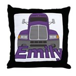 Trucker Emily Throw Pillow