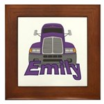 Trucker Emily Framed Tile