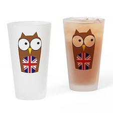 London Union Jack Owl Drinking Glass