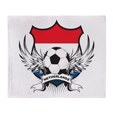 Netherlands World Cup Soccer Throw Blanket