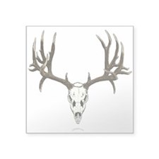 "Deer skull Square Sticker 3"" x 3"""