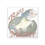 Bass master Square Sticker 3