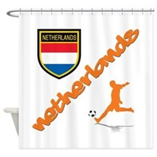 Netherlands World Cup Soccer Shower Curtain