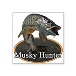 Musky, 6 Square Sticker 3