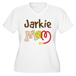 Jarkie Dog Mom Women's Plus Size V-Neck T-Shirt