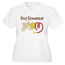 King Schnauzer Dog Mom T-Shirt