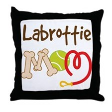 Labrottie Dog Mom Throw Pillow