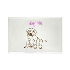 hug me dog Rectangle Magnet