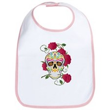 Rose Sugar Skull Bib