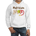 Maltichon Dog Mom Hooded Sweatshirt