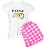Maltichon Dog Mom Women's Light Pajamas