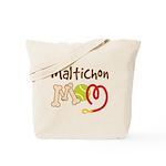 Maltichon Dog Mom Tote Bag