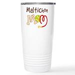 Maltichon Dog Mom Ceramic Travel Mug