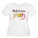 Maltichon Dog Mom Women's Plus Size Scoop Neck T-S