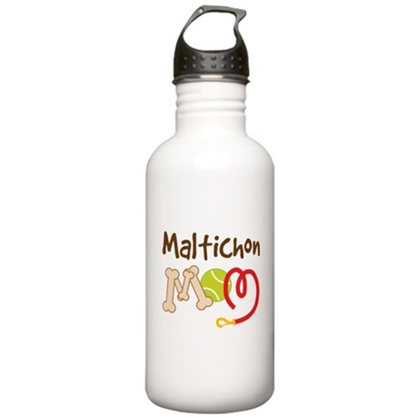 Maltichon Dog Mom Stainless Water Bottle 1.0L