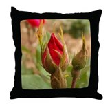 Velvet Rosebud Throw Pillow