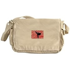 Martial Arts red sunburst Messenger Bag
