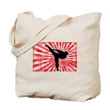 Martial Arts red sunburst Tote Bag