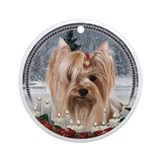 Christmas Yorkie Ornament