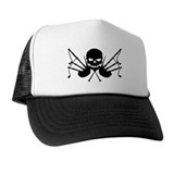 Skull & Crossdrones, Black Trucker Hat