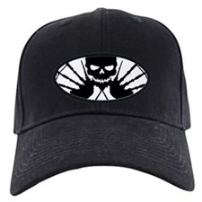 Skull & Crossdrones, Black Baseball Hat