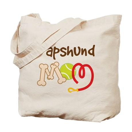 Papshund Dog Mom Tote Bag