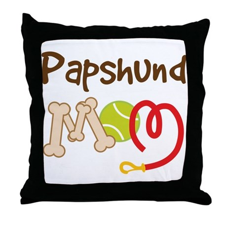 Papshund Dog Mom Throw Pillow