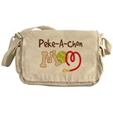 Peke-A-Chon Dog Mom Messenger Bag