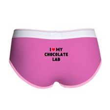I 3 my chocolate lab Women's Boy Brief