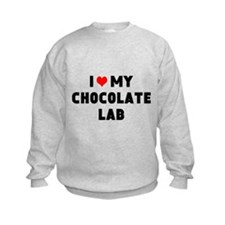 I 3 my chocolate lab Sweatshirt