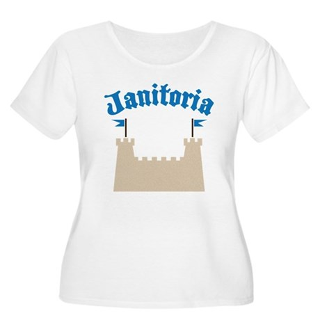 janitoria Women's Plus Size Scoop Neck T-Shirt