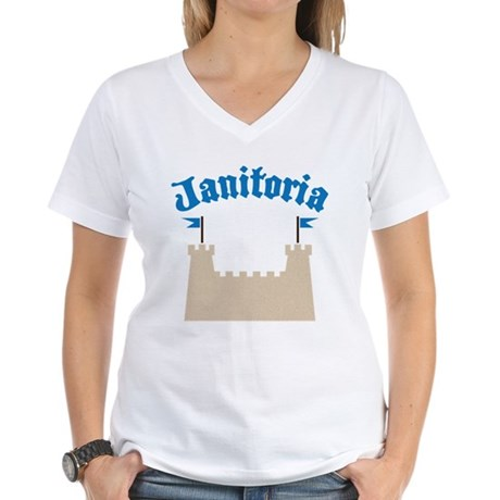 janitoria Women's V-Neck T-Shirt