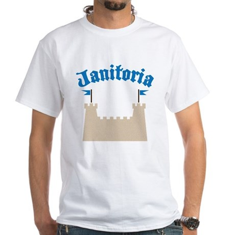 janitoria White T-Shirt