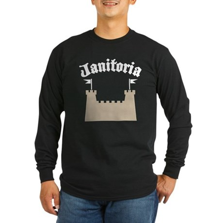 janitoriadrk copy.png Long Sleeve Dark T-Shirt