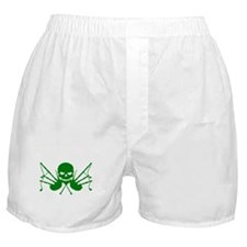 Skull & Crossdrones, Green Boxer Shorts