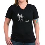 Nick & Nora Women's V-Neck Dark T-Shirt