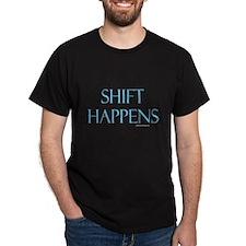 Shift Happens Black T-Shirt