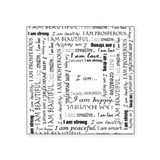 "I AM Affirmation Square Sticker 3"" x 3"""