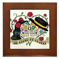 Day Of The Dead Wedding Framed Tile