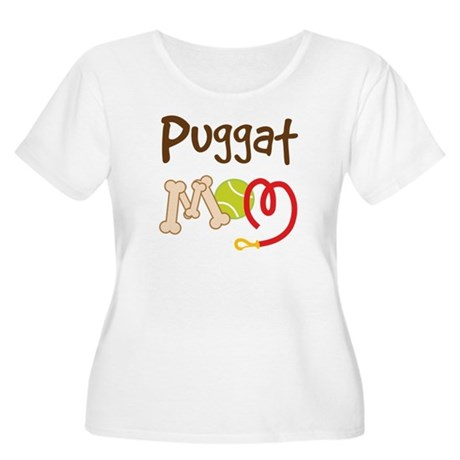 Puggat Dog Mom Women's Plus Size Scoop Neck T-Shir