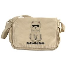 Bad to the Bone Westie! Messenger Bag