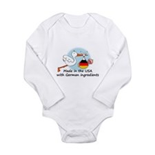 Unique German american Long Sleeve Infant Bodysuit