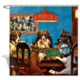 A friend in need Poker Shower Curtain
