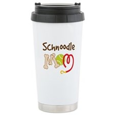Schnoodle Dog Mom Ceramic Travel Mug