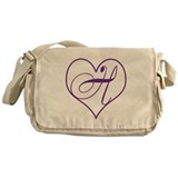 H Initial Messenger Bag
