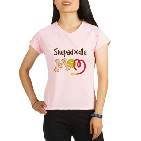 Shepadoodle Dog Mom Performance Dry T-Shirt